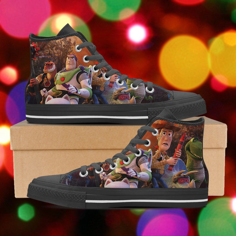 3d34aed602 Toy Story shoes Toy Story high tops Toy Story sneakers look