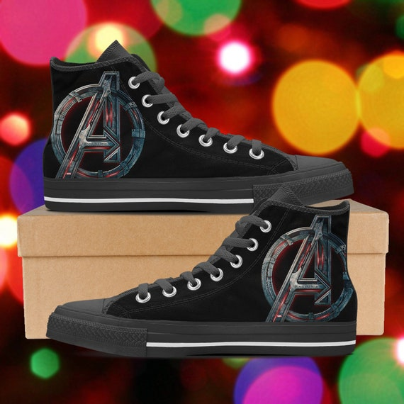 Avengers High tops Avengers shoes Avengers sneakers look  ad462c7f4