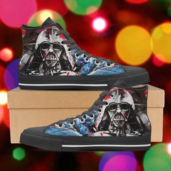 Star Wars shoes Darth vader high tops Star Wars sneakers  34fa4f3f25
