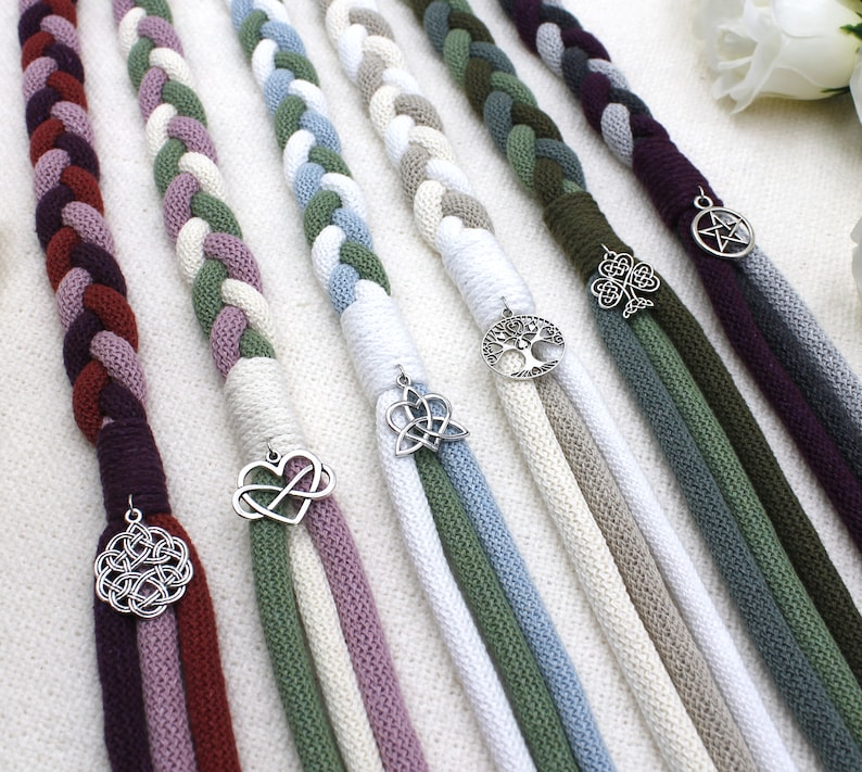 Custom Trinity Braid Handfasting Cord in Your Colors  image 0
