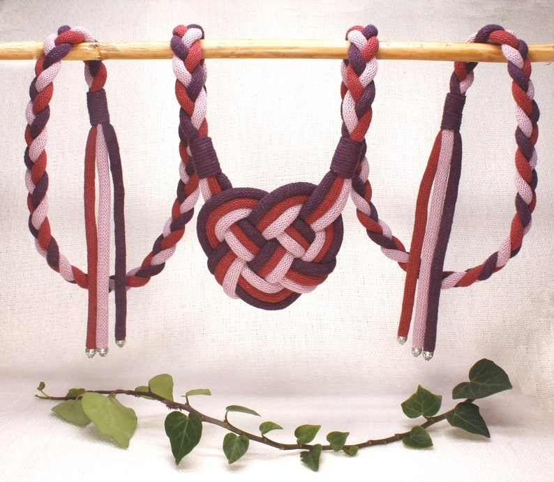 Handfasting Cords  Heart Knot cord  in Natural Cotton  Wild image 0