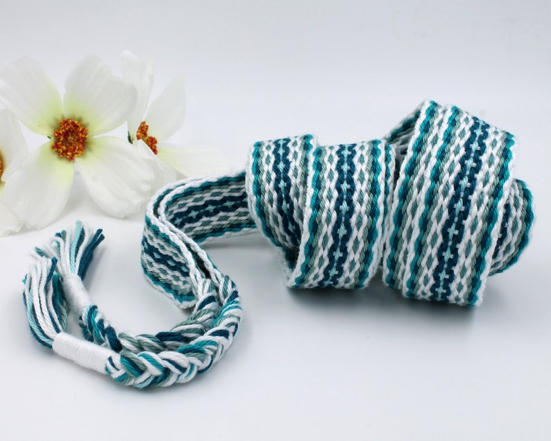 Crystal Waters  Teal Handfasting Cord  100% natural cotton image 0