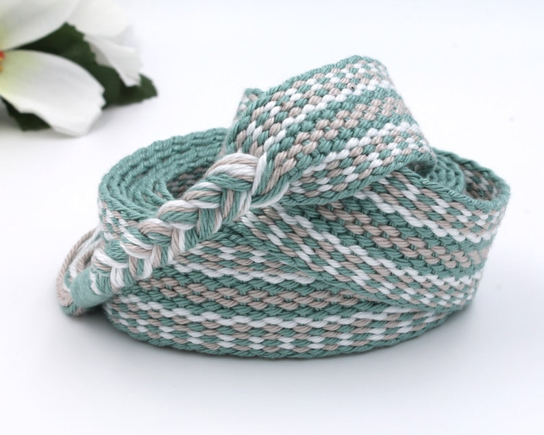 Sage Handfasting Cord  100% natural cotton sustainable image 0