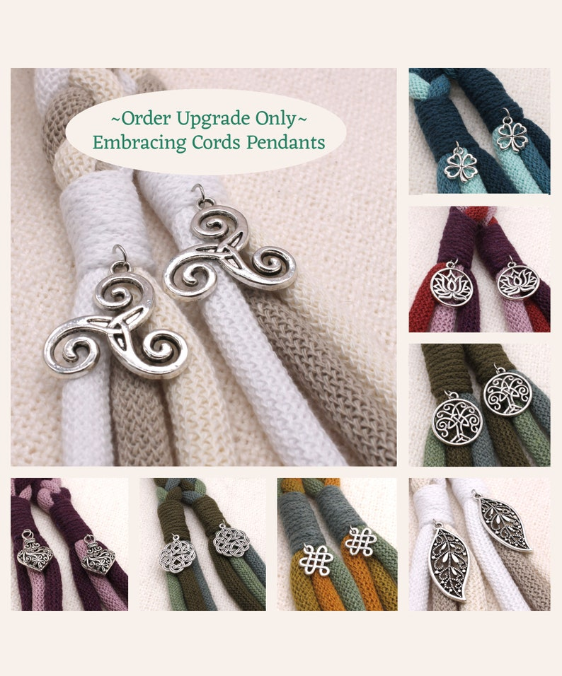 Handfasting Cord  ORDER UPGRADE  Pendants add your choice image 0