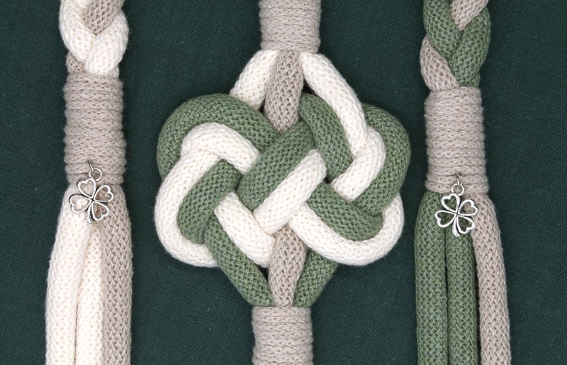 Handfasting Cord Ireland  Double Heart Knot cord in Natural image 0