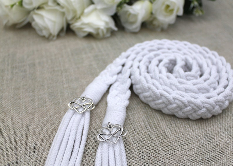 Handfasting Cords  Pure White Cotton Cord  Wedding Rope with image 0