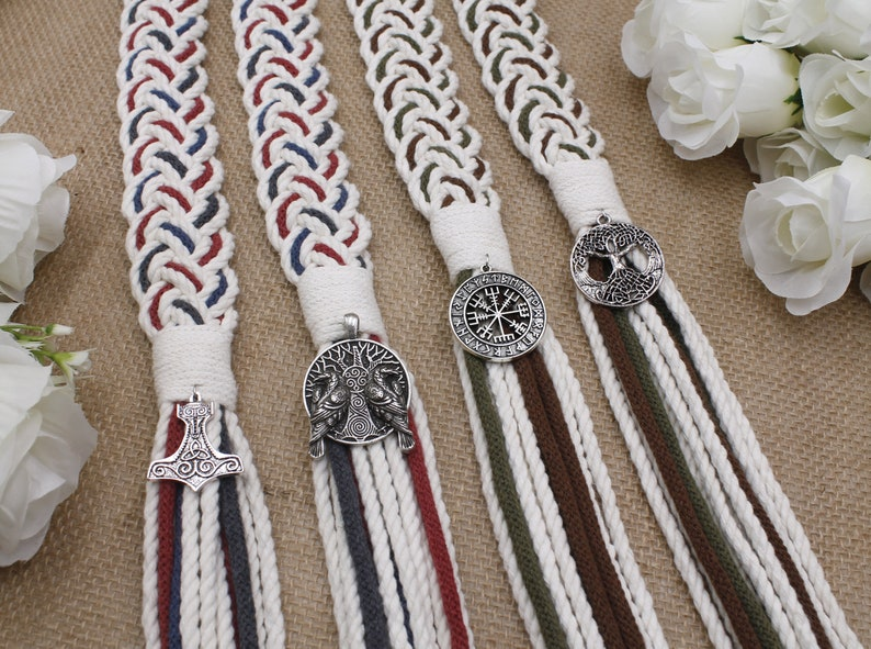 Norse Handfasting Cords in Your Colors  Personalize with image 0