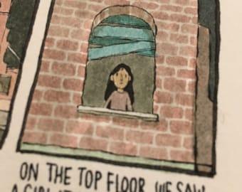 Deep Dark Fears #187 - original framed comic artwork