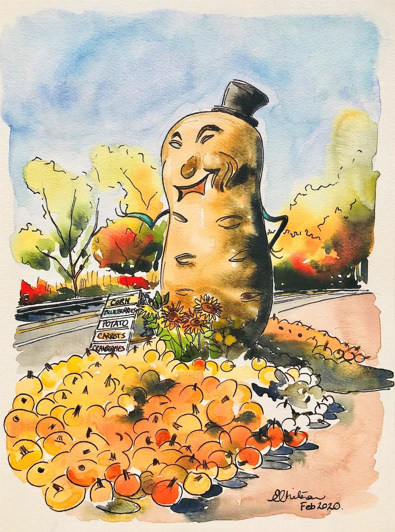 Mauger Potato  8x10 Print  Art Reproduction  image 0
