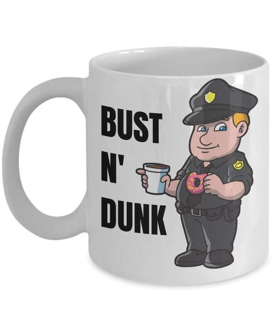 Cops /& Donuts Art Print Personalized Police Coffee Shop Wall Decor Officer Gift