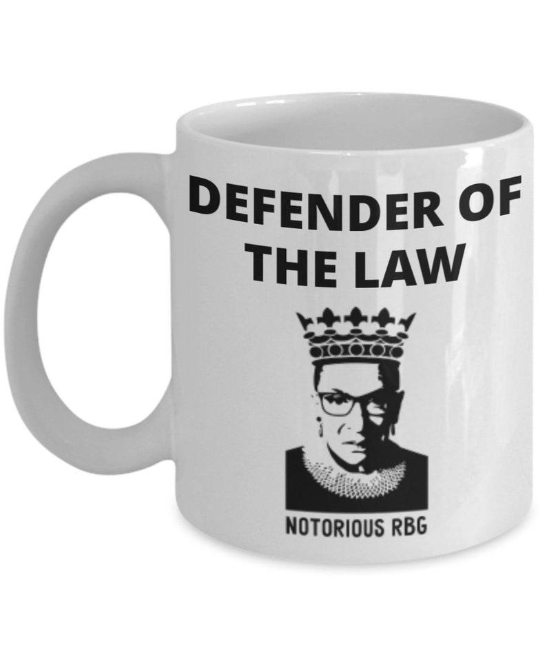 431d54b3d58 Ruth Bader Ginsburg Defender Of The Law RBG Mug Law School | Etsy