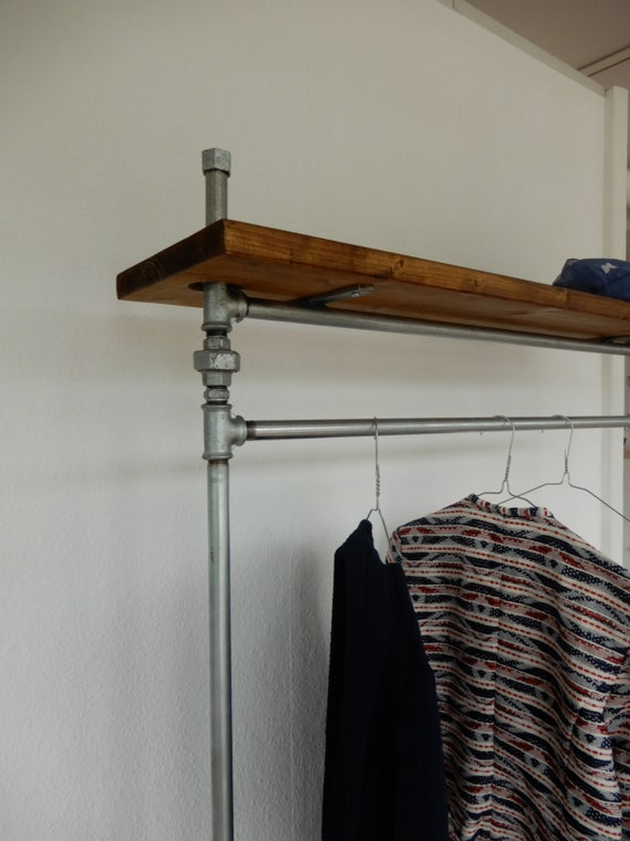 Coat rack coat rack galvanized with rollers