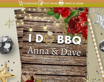 Bbq Wedding Invitation Etsy