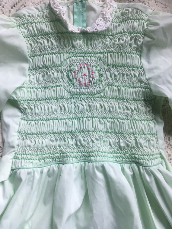 Mint Green Handsmocked Polly Flinders Girls' Dres… - image 5