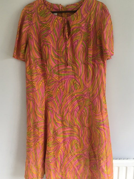 1960s Psychedelic Shift Dress