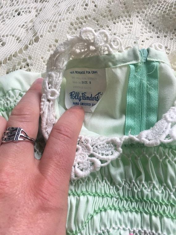 Mint Green Handsmocked Polly Flinders Girls' Dres… - image 3