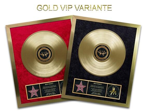 Goldene Schallplatte Silberplatin Vip 18k Geschenk Geschenkidee Auszeichnung Jubiläum Hochzeit Geburtstag Ehrung Vinyl