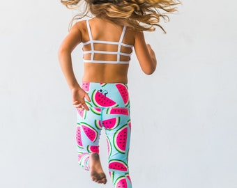 6a0fb31832b3e Yoga Kids Mini Leggings Watermelon Dance Ballet Pants