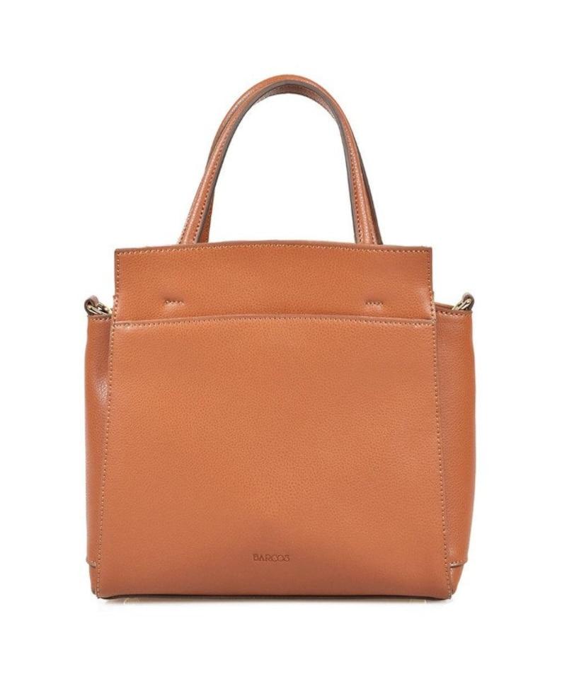 2-Way Macaron Leather Handbag Everyday Crossbody Bag