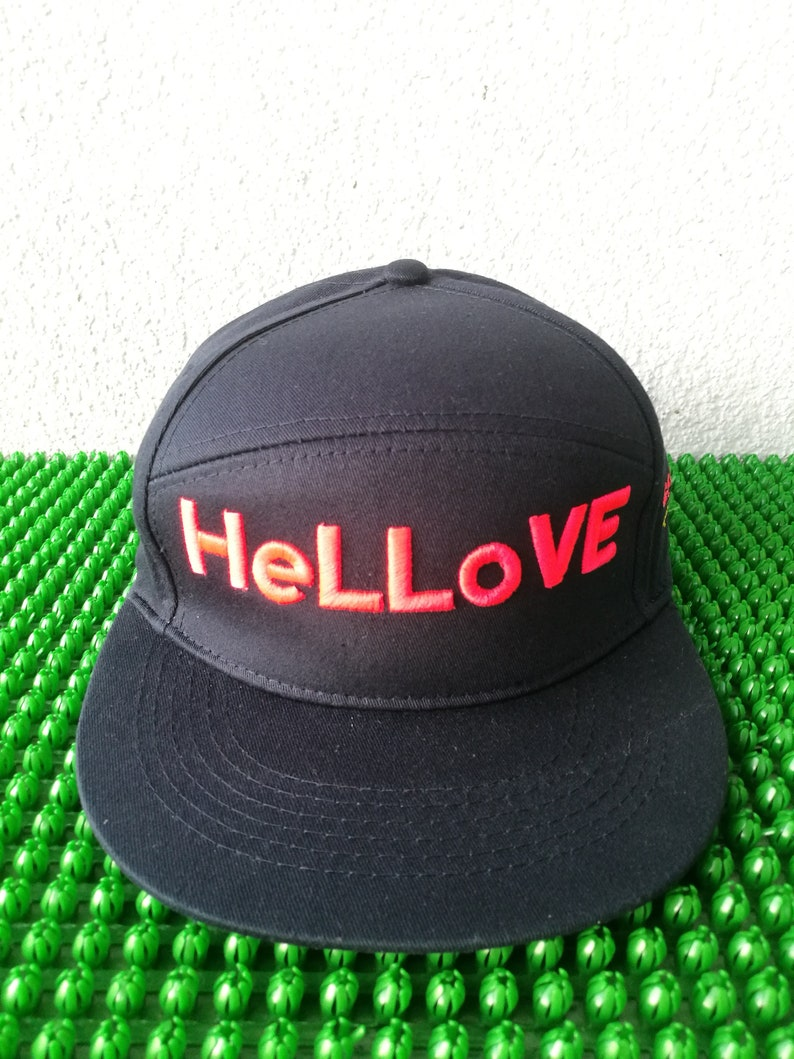 3624f3dab90b8 Custom made snapback with 3D HeLLove embroidered Cap'ka brand