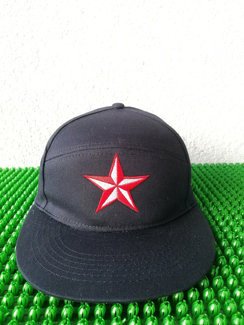 1646842af6bc0 Custom made snapback with tattoo star embroidered Cap ka