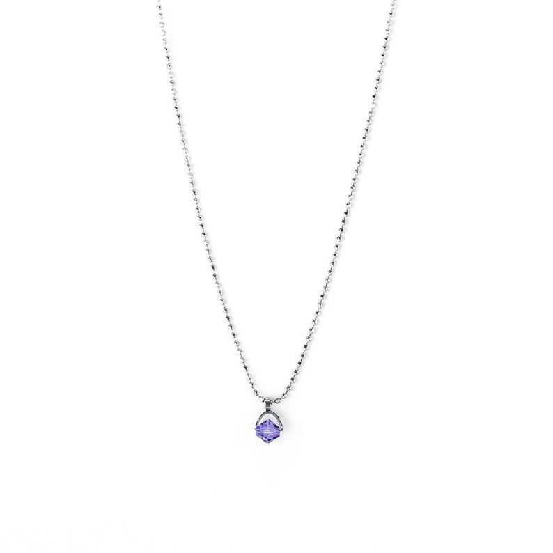 Children/'s chain with purple June birthstone pendant alexandrite