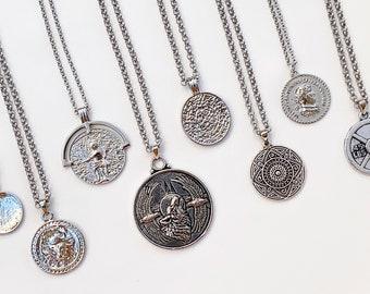 a49debaf45066 Mens coin necklace | Etsy