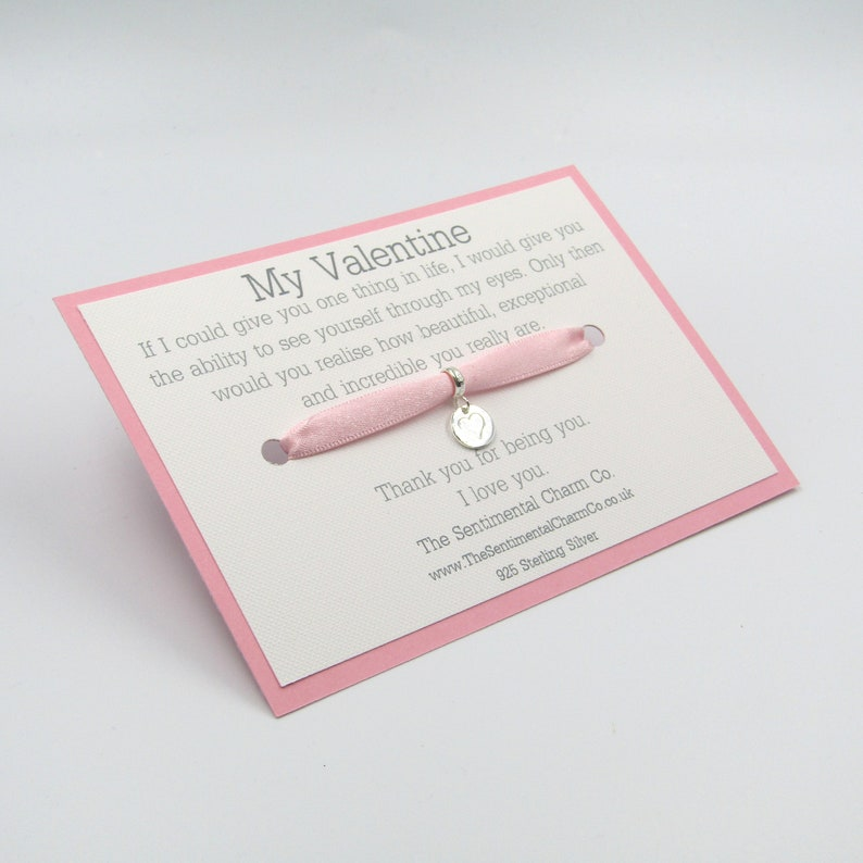925 0314 My Valentine Pendant Charm Silver Plated European Bead for Bracelet Love Gift