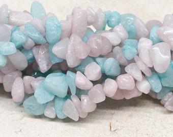 Morganite gemstone beads, pastel gemstone beads, gemstone shard 8 mm - 14 mm, mirganite shard