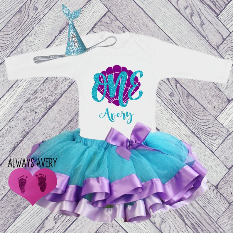 eb003730a Mermaid 1st Birthday Outfit First Birthday Outfit Cute One