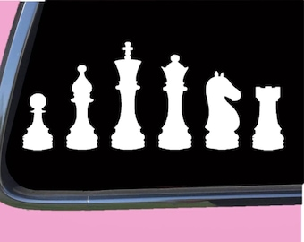 #349 CHESS TABLE GAME PIECES ANY SIZE OR COLOR CUSTOM CUT VINYL DECAL STICKER