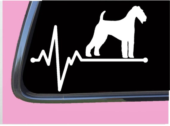 Airedale Terrier Dog Silhouette Sticker Decal Graphic Vinyl Label Black
