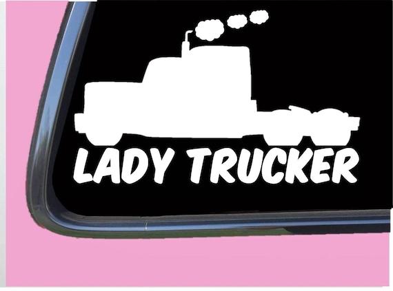 Trucker crossbones decal big rig trucking truck drivers skull badge sticker