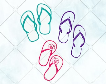 0e5f6bd083c3 Flip Flops SVG   Summer Shoes SVG   Flip Flops Sandals Vector   beach shoes  png   Cut File for Cricut Silhouette and Brother