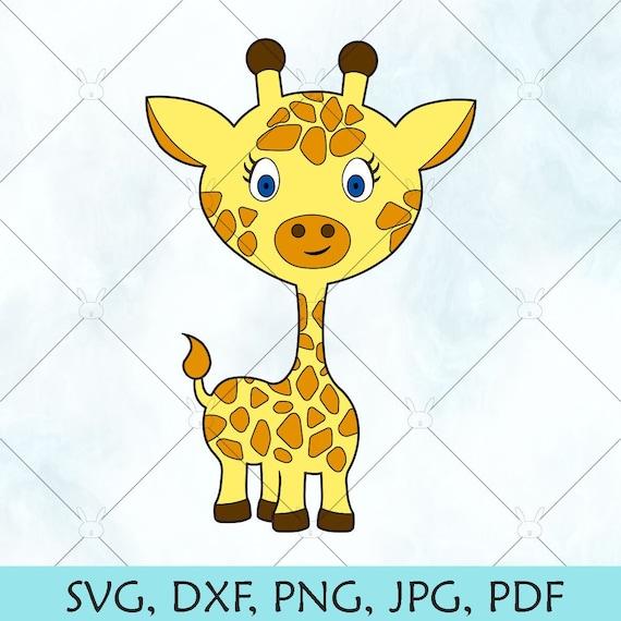 Baby Giraffe Svg Cute Baby Giraffe For Cricut Baby Giraffe Etsy