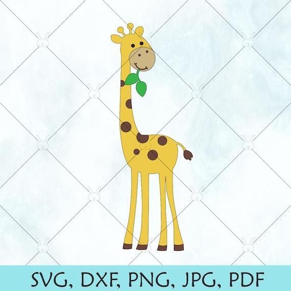 Giraffe Svg Baby Giraffe Svg Cute Giraffe Silhouette Etsy