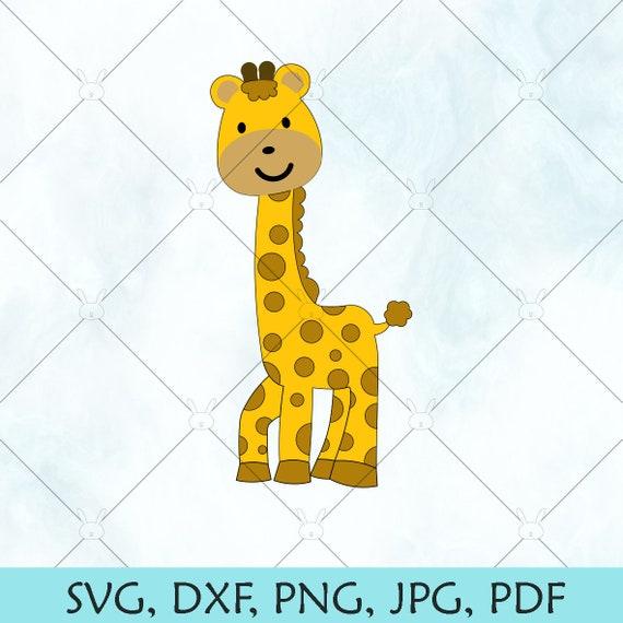 Giraffe Svg Baby Giraffe Silhouette Giraffe Vector Baby Etsy