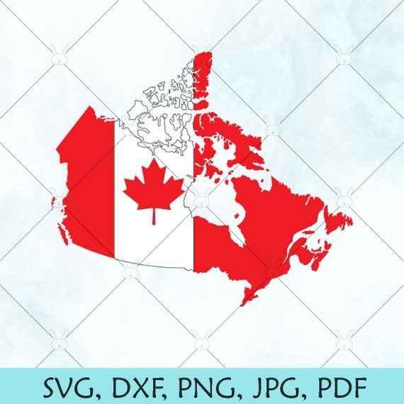 Canada Flag Map SVG / Canada SVG / Canadian Provinces map Vector / Oh  Canada png / Cut File for Cricut Silhouette and Brother