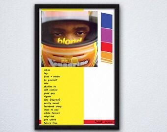 44c67794d Frank Ocean Blond Album Poster // Frank Ocean Poster // Blond Album Poster  // Frank Ocean Artwork // Blond Artwork
