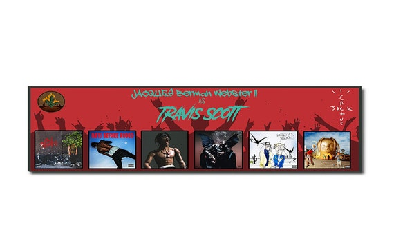 522380a77441 Travis Scott Poster // Travis Scott Discography Poster // La | Etsy