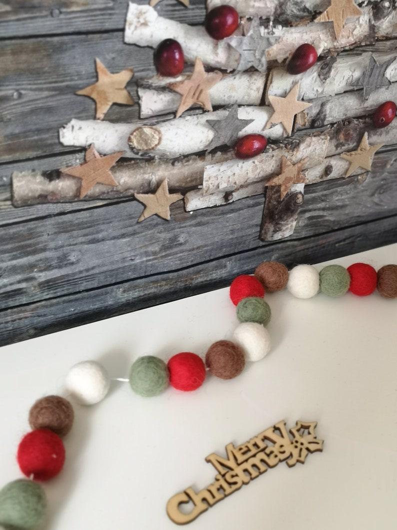 Festive Felt Ball Garland .Christmas tree decoration Christmas Autumn Pom Pom Garland Winter Home Decor Hanging Wall Decorations