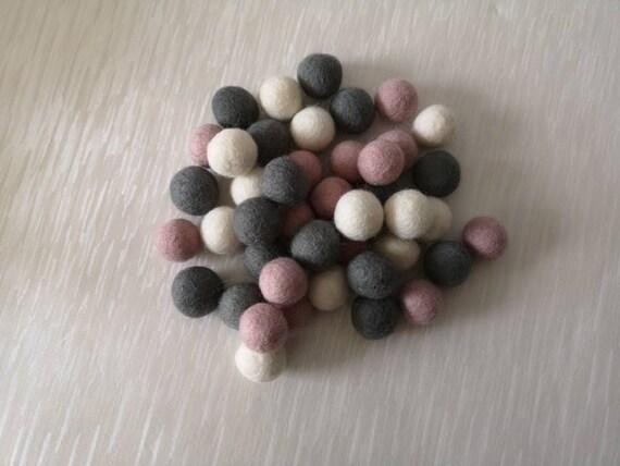 mint pink Wholesale felt balls Easter Pastel Rainbow feltball mix Wool Felt pompoms,DIY Felt Ball garland ivory, yellow