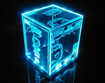 Acrylic LED Display Case for Funko Pop Custom Design Fits 6 | Etsy