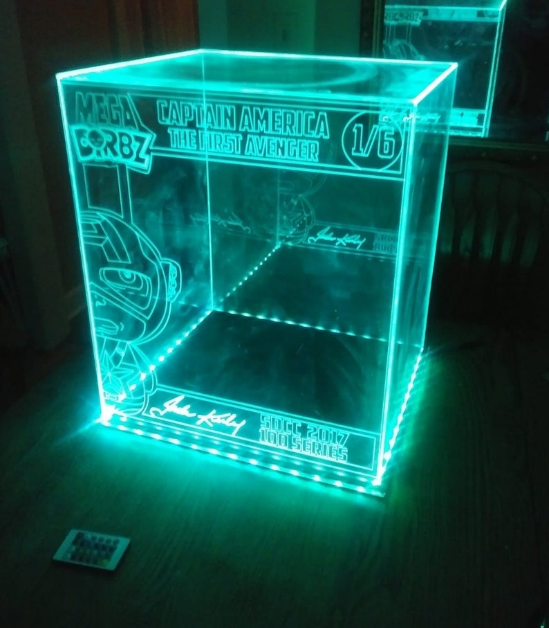 Acrylic LED Display Case for Mega Dorbz, Custom Design