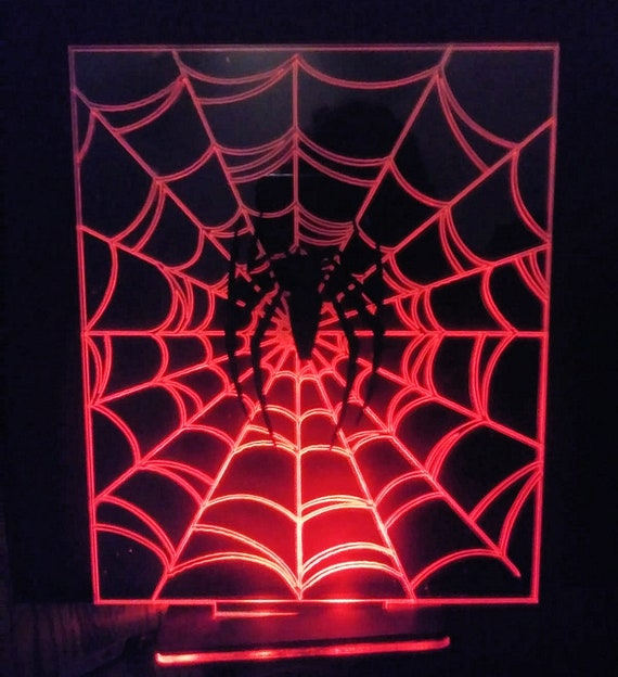Acrylic LED Lamp Diorama, custom made for Spiderman, Black Panther, Iron  Man, and more, many sizes