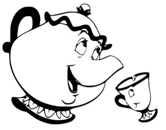 photograph relating to Chip Teacup Printable known as disney, mrs potts and chip, magnificence and the beast, tea pot, tea cup, printable, silhouette, cricut. quick obtain