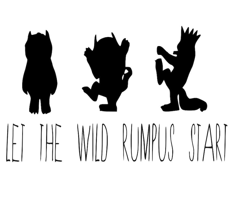 image relating to Let the Wild Rumpus Start Printable identify permit the wild rumpus commence, the place the wild variables are, family members, matching shirts, crowns, printable, silhouette, cricut. quick obtain