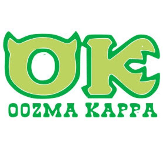 Disney Ok Oozma Kappa Monsters Inc Logo Mike Sully Etsy