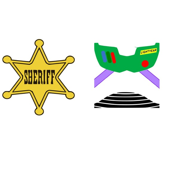 graphic about Printable Sheriff Badge known as disney,woody hype, sheriff, badge, hype lightyear wings, matching, blouse style, toy tale, printable, silhouette, cricut, fast obtain