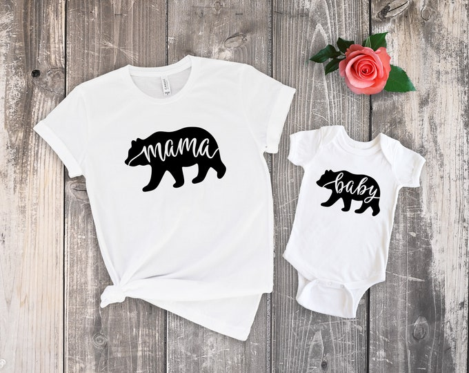 Mama Bear and Baby Bear Short Sleeve Set